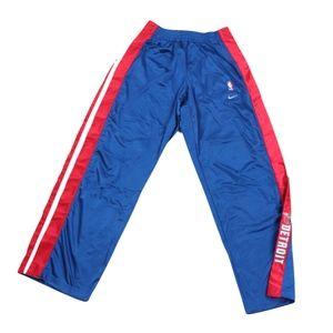 Vtg Nike Mens 3XL +4 Detroit Pistons Pants Blue